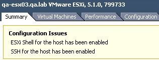 VMware SSH warning