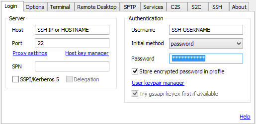 Remote Desktop over SSH using Tunnelier1