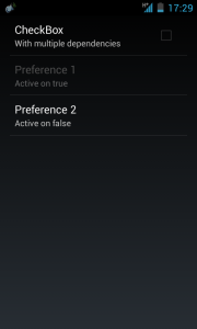 android preference multiple dependency