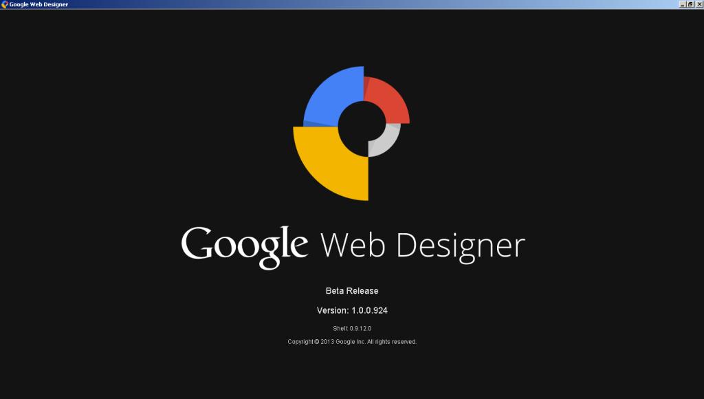 Google Web Designer loading